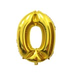 Number 0 Gold Foil Balloon 40 inch