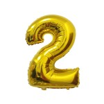 Number 2 Gold Foil Balloon 40 inch