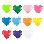 6″ Heart Latex Balloons