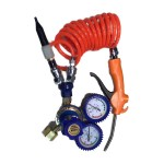 Helium reduction valve with hose