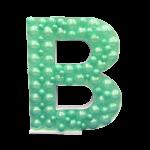 Letter B Mosaic Balloon Frame(100cm)
