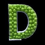 Letter D Mosaic Balloon Frame(100cm)