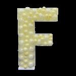 Letter F Mosaic Balloon Frame(100cm)