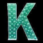 Letter K Mosaic Balloon Frame(100cm)