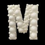 Letter M Mosaic Balloon Frame(100cm)