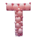 Letter T Mosaic Balloon Frame(100cm)