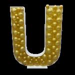 Letter U Mosaic Balloon Frame(100cm)