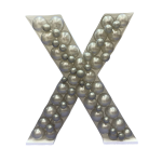 Letter X Mosaic Balloon Frame(100cm)