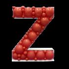 Letter Z Mosaic Balloon Frame(100cm)
