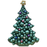 Christmas Tree Mosaic Balloon Frame(180cm)