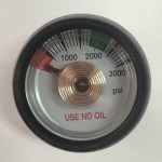 Gauge For Helium Gas Regulator