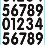 Balloon sticker of number and letter