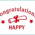 Balloon Sticker for Congratulations&Happy Graduation