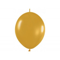 Link-o-loon balloon gold, latex balloons, decorating balloons