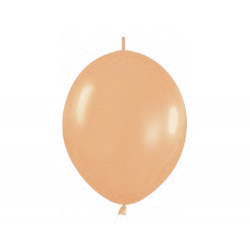 Link-o-loon balloon peach, latex balloons, decorating balloons