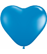 "12"" Heart latex balloons blue, latex balloons, helium balloons, balloon acccessories"