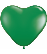 "12"" heart latex balloons green, latex balloons, helium balloons, Balloon accessories"