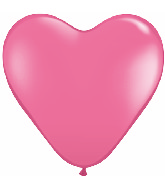 "12"" Heart latex balloons hot pink, latex balloons, helium balloons, balloon acccessories"