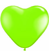 "12"" Heart latex balloons light green, latex balloons, helium balloons, balloon acccessories"