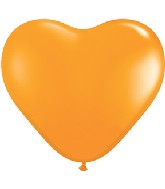 "12"" Heart latex balloons orange, latex balloons, helium balloons"