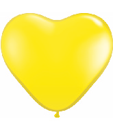 "12"" Heart latex balloons yellow, latex balloons, helium balloons, balloon acccessories"