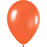 Metallic orange latex balloons