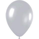 Metallic silver latex balloons