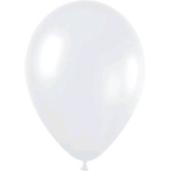 Metallic white latex balloons